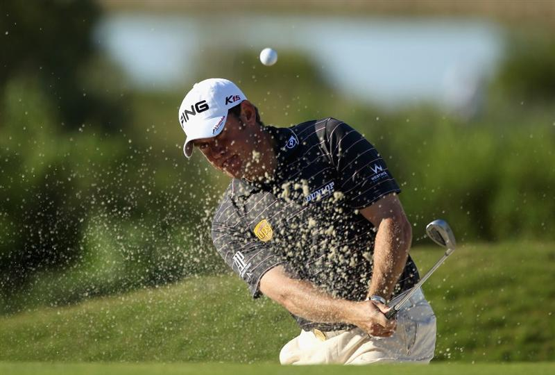 CASARES, SPAIN - MAY 21:  Lee Westwood of England in action during his last 16 match of the Volvo World Match Play Championships at Finca Cortesin on May 20, 2011 in Casares, Spain.  (Photo by Warren Little/Getty Images)