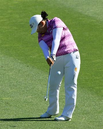 RANCHO MIRAGE, CA - APRIL 01:  Jeong Jang of South Korea on the 7th hole during the first round of the 2010 Kraft Nabisco Championship, on the Dinah Shore Course at The Mission Hills Country Club, on April 1, 2010 in Rancho Mirage, California.  (Photo by David Cannon/Getty Images)
