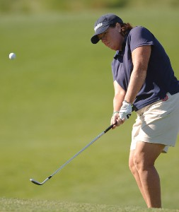 Meg Mallon in action during the second round of the LPGA's 2006 Michelob ULTRA Open at Kingsmill, at the Kingsmill Resort and Spa River Course in Williamsburg, Virginia on May 12, 2006.Photo by Steve Grayson/WireImage.com
