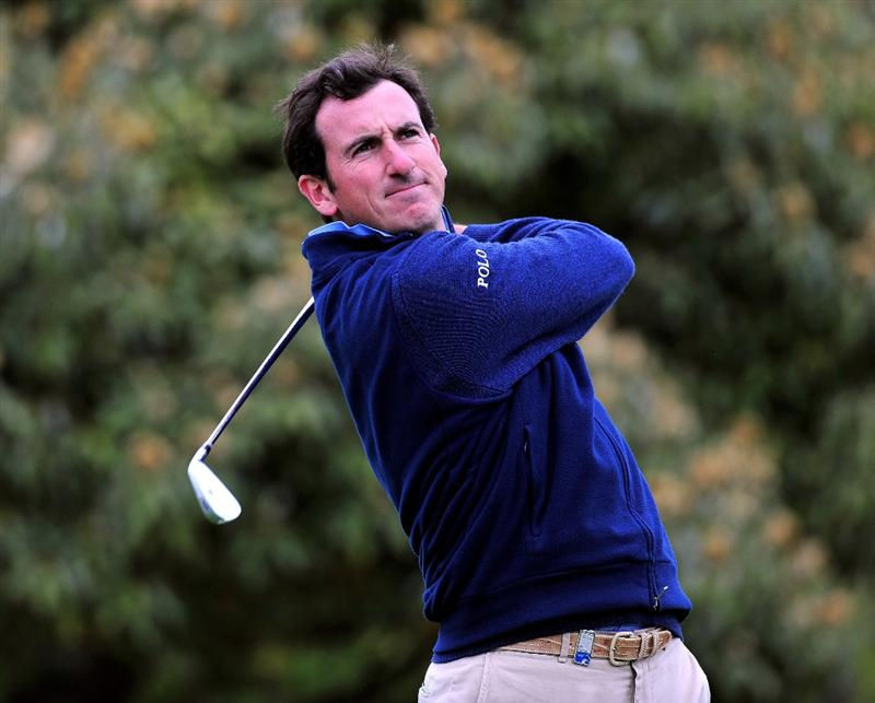 JEJU, SOUTH KOREA - APRIL 24:  Gonzalo Fernandez - Castano of Spain plays his tee shot on the 14th hole during the second round of the Ballantine's Championship at Pinx Golf Club on April 24, 2009 in Jeju, South Korea.  (Photo by Stuart Franklin/Getty Images)