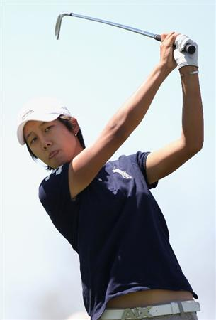 PHOENIX - MARCH 28:  Song-Hee Kim of South Korea tees off on the second hole during the third round of the J Golf Phoenix LPGA International golf tournament at Papago Golf Course on March 28, 2009 in Phoenix, Arizona.  (Photo by Christian Petersen/Getty Images)