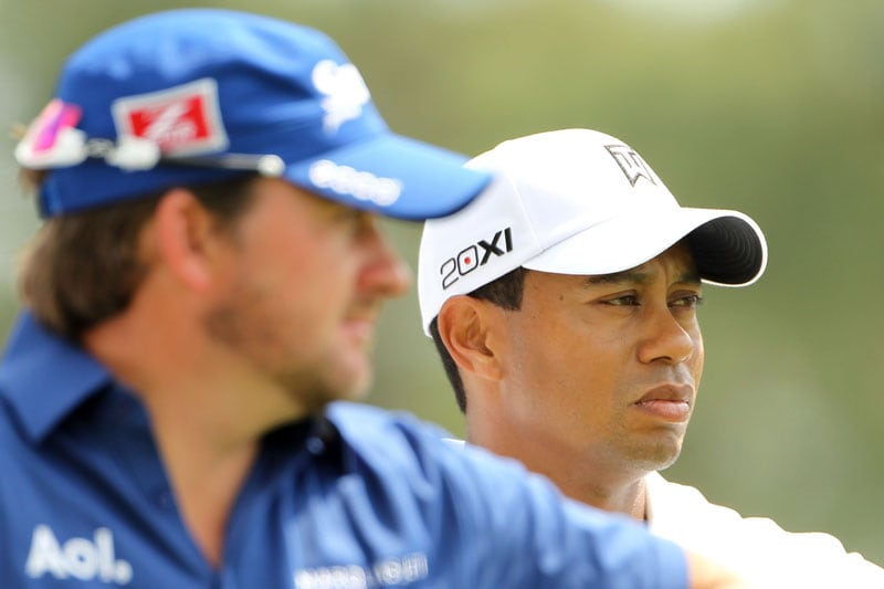 Graeme McDowell and Tiger Woods