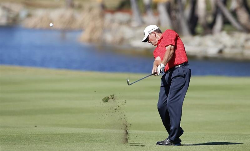 RIO GRANDE, PR - MARCH 12:  Michael Bradley hits his second shot on the 17th hole during the third round of the Puerto Rico Open presented by seepuertorico.com at Trump International Golf Club on March 12, 2011 in Rio Grande, Puerto Rico.  (Photo by Michael Cohen/Getty Images)