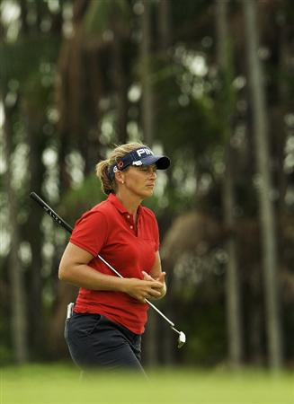 SINGAPORE - MARCH 07:  Angela Standford of the USA walks on the par five 15th hole during the third round of HSBC Women's Champions at the Tanah Merah Country Club on March 7, 2009 in Singapore.  (Photo by Victor Fraile/Getty Images)