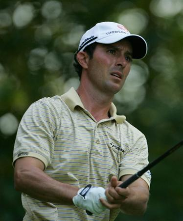 NORTON, MA - SEPTEMBER 05:  Mike Weir of Canada watches his drive during the second round of the Deutsche Bank Championship at TPC Boston held on September 5, 2009 in Norton, Massachusetts.  (Photo by Michael Cohen/Getty Images)