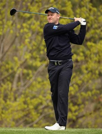 ICHEON, SOUTH KOREA - APRIL 29:  Alastair Forsyth of Scotland in action during the second round of the Ballantine's Championship at Blackstone Golf Club on April 29, 2011 in Icheon, South Korea.  (Photo by Andrew Redington/Getty Images)