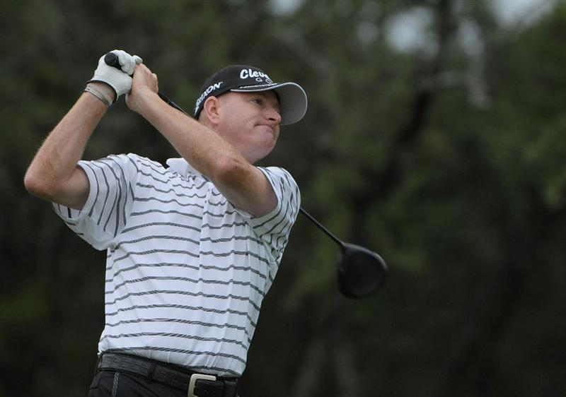 SAN ANTONIO, TX - MAY 15:  Steve Flesch tees off the 1st hole during the second round of the Valero Texas Open at the TPC San Antonio on May 15, 2010 in San Antonio, Texas. (Photo by Marc Feldman/Getty Images)
