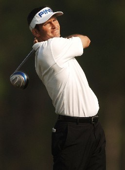 Mark Wilson hits from the 12th tee during the first round of the 2005 Shell Houston Open at the Redstone Golf Club in Houston, Texas April 21, 2005.Photo by Steve Grayson/WireImage.com