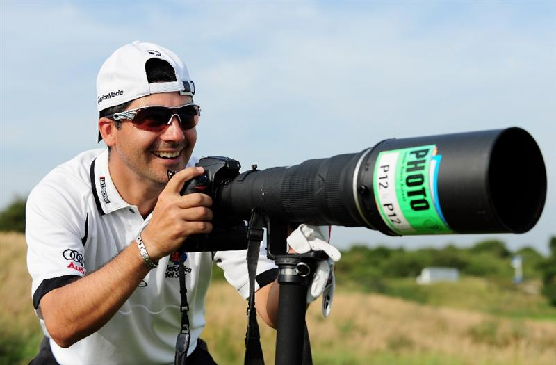 ZANDVOORT, NETHERLANDS - AUGUST 19:  Felipe Aguilar of Chile takes some pictures during the pro - am of The KLM Open at Kennemer Golf & Country Club on August 19, 2009 in Zandvoort, Netherlands.  (Photo by Stuart Franklin/Getty Images)