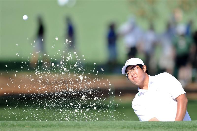 AUGUSTA, GA - APRIL 06:  Amateur Byeong-Hun An of South Korea plays a shot during a practice round prior to the 2010 Masters Tournament at Augusta National Golf Club on April 6, 2010 in Augusta, Georgia.  (Photo by Harry How/Getty Images)