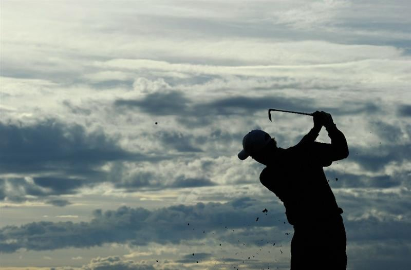 VIENNA, AUSTRIA - SEPTEMBER 15:  Richard Green of Australia plays a shot during the pro - am prior to the Austrain golf open presented by Botarin at the Diamond country club on September 15, 2010 in Atzenbrugg near Vienna, Austria.  (Photo by Stuart Franklin/Getty Images)
