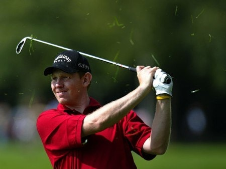 Stephen Gallacher (SCOT) in action during the first round of the 2005 BMW International Open as part of the European Tour circuit at Munich , in south Germany on August 25, 2005.Photo by Alexanderk/WireImage.com