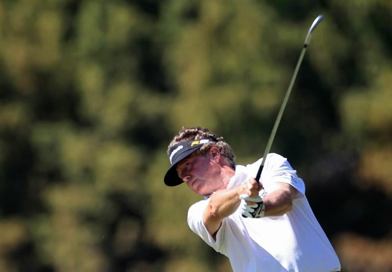 MADISON, MS - OCTOBER 01:  Michael Allen hits a shot during the second round of the Viking Classic held at Annandale Golf Club on October 1, 2010 in Madison, Mississippi.  (Photo by Michael Cohen/Getty Images)