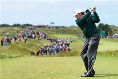 SOUTHPORT, UNITED KINGDOM - JULY 19:  Phil Mickelson of USA tees off on the 11th during the third round of the 137th Open Championship on July 19, 2008 at Royal Birkdale Golf Club, Southport, England.  (Photo by Stuart Franklin/Getty Images)