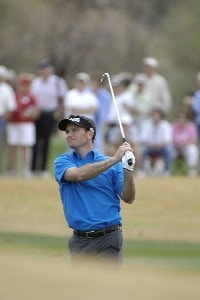 Mark Wilson hits his approach shot into the 2nd hole during the final round of the 2006 Chrysler Classic of Tucson on Sunday , February 26, 2006 at the Omni Tucson National Golf Resort and Spa in Tucson, ArizonaPhoto by Marc Feldman/WireImage.com