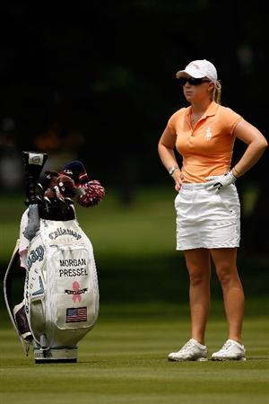 BETHLEHEM, PA - JULY 11:  Morgan Pressel waits to make a shot from the fairway on the 13th hole during the third round of the 2009 U.S. Women's Open at Saucon Valley Country Club on July 11, 2009 in Bethlehem, Pennsylvania.  (Photo by Chris Graythen/Getty Images)