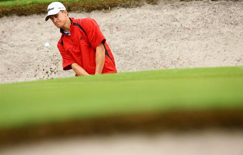 SYDNEY, AUSTRALIA - DECEMBER 12:  Stephen Dartnall of Australia chips out of a bunker on the twelfth hole during the second round of the 2008 Australian Open at The Royal Sydney Golf Club on December 12, 2008 in Sydney, Australia. (Photo by Mark Nolan/Getty Images)