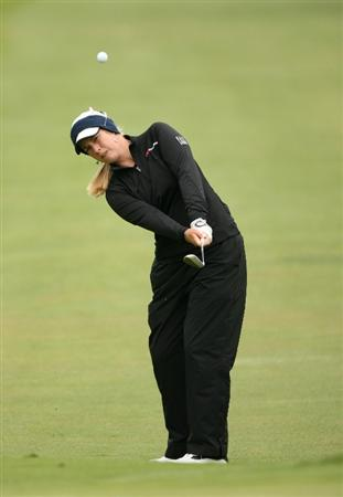 CLIFTON, NJ - MAY 17: Brittany Lincicome hits her third shot on the 4th hole during the final round of the Sybase Classic presented by ShopRite at Upper Montclair Country Club on May 17, 2009 in Clifton, New Jersey. (Photo by Hunter Martin/Getty Images)