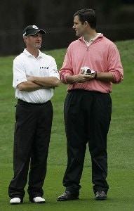 Jerry Kelly (L) with Drew Steefens during the second round of the AT&T Pebble Beach Pro-Am at Pebble Beach Golf Links, in Pebble Beach, California on February 9, 2007. PGA TOUR - 2007 AT&T Pebble Beach National Pro-Am - Second RoundPhoto by Michael Cohen/WireImage.com