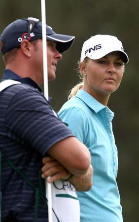LA JOLLA, CA - SEPTEMBER 17:  Anna Nordqvist of Sweden looks on during the first round of the LPGA Samsung World Championship on September 17, 2009 at Torrey Pines Golf Course in La Jolla, California.  (Photo By Donald Miralle/Getty Images)