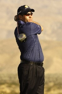 Brian Davis in action during the first round of the Bob Hope Chrysler Classic at The Classic Club in Palm Desert, California  on Wednesday, January 18, 2006.Photo by Marc Feldman/WireImage.com