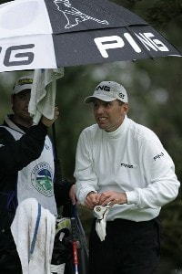 Kevin Sutherland during the third round of the AT&T Pebble Beach National Pro-Am on the Poppy Hills Golf Course on February 10, 2007. PGA TOUR - 2007 AT&T Pebble Beach National Pro-Am - Third RoundPhoto by Michael Cohen/WireImage.com