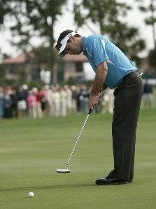 Mark Wilson watches his birdie putt on the second playoff hole at the Honda Classic on the Champion Course at PGA National in Palm Beach Gardens, Florida on Monday, March 5, 2007. PGA TOUR - The 2007 Honda Classic - Playoff Continuation - March 5, 2007Photo by Sam Greenwood/WireImage.com