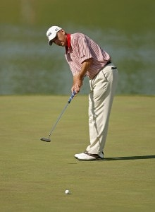 Kevin Sutherland on the 18th hole during the second round of the AT&T Classic held at TPC Sugarloaf in Duluth, GA on May 18, 2007. PGA TOUR - 2007 AT&T Classic - Second RoundPhoto by Mike Ehrmann/WireImage.com