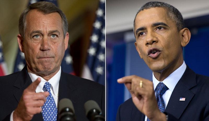 John Boehner and Barack Obama