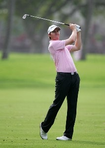 Jimmy Walker hits his second shot on the 14th hole during the first round of the Sony Open at the Waialae Country Club on January 10, 2008 in Honolulu, Oahu, Hawaii. PGA TOUR - 2008 Sony Open in Hawaii - First RoundPhoto by Jonathan Ferrey/WireImage.com