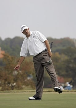 Bart Bryant after putting during the final round of THE TOUR Championship at East Lake Golf Club in Atlanta, Georgia on November 6, 2005.Photo by Sam Greenwood/WireImage.com