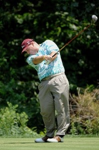 SILVIS, IL - JULY 14: Duffy Waldorf  during the third round of The John Deere Classic at the TPC Deere Run on July 14, 2007 in Silvis, Illinois.   (Photo by Marc Feldman/WireImage) *** Local Caption *** Duffy Waldorf PGA TOUR - 2007 John Deere Classic - Third RoundPhoto by Marc Feldman/WireImage) *** Local Caption *** Duffy Waldorf