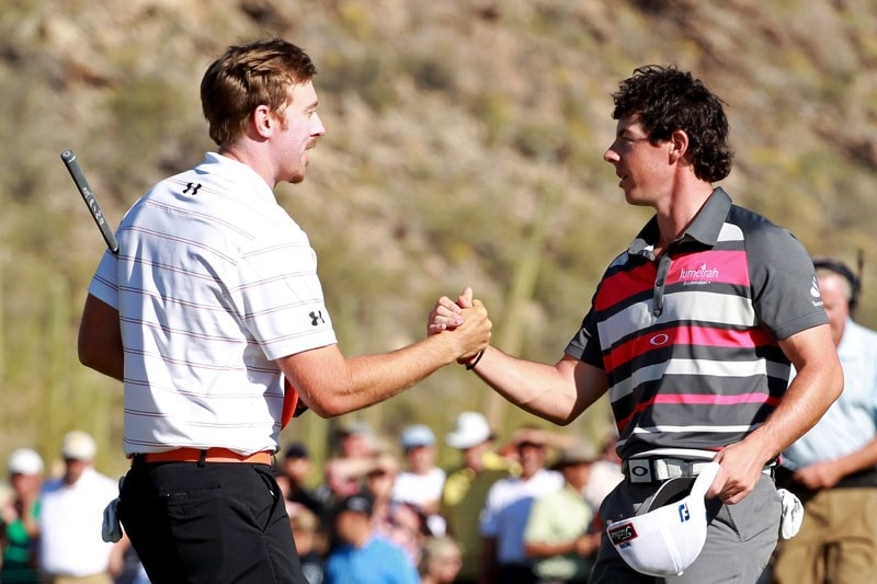 Hunter Mahan and Rory McIlroy