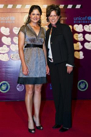 HAIKOU, CHINA - OCTOBER 29:  Lorena Ochoa (L) of Mexico and Rosie Jones of USA attend red carpet during day three of the Mission Hills Start Trophy tournament at Mission Hills Resort on October 29, 2010 in Haikou, China.  (Photo by Victor Fraile/Getty Images for Mission Hills)