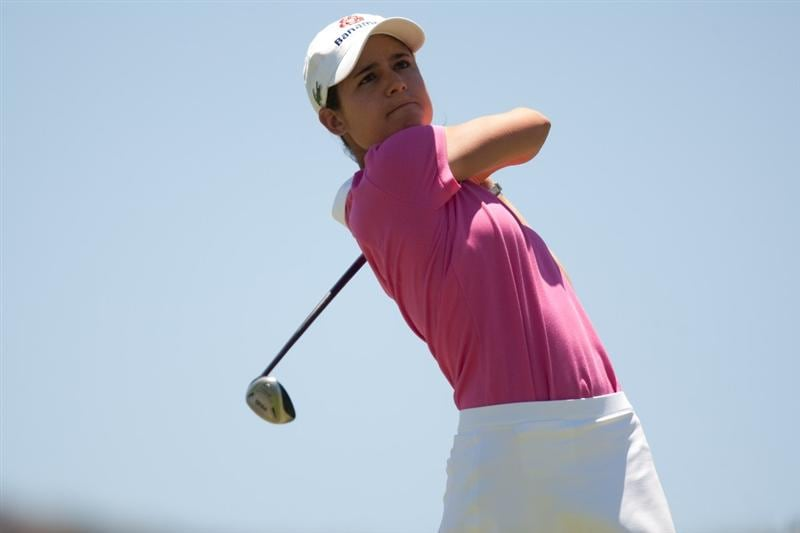MORELIA, MEXICO - MAY 2: Lorena Ochoa of Mexico follows through on a tee shot during the fourth round of the Tres Marias Championship at the Tres Marias Country Club on May 2, 2010 in Morelia, Mexico. (Photo by Darren Carroll/Getty Images)