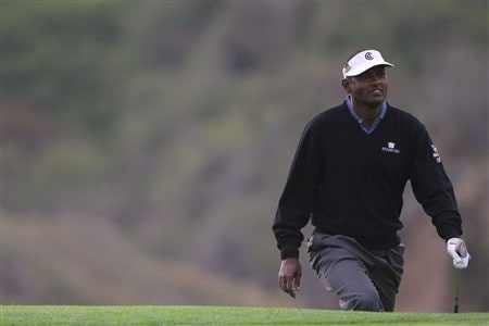 SAN DIEGO - JUNE 11:  Vijay Singh of Fiji walks up a green during the third day of previews to the 108th U.S. Open at the Torrey Pines Golf Course (South Course) on June 11, 2008 in San Diego, California.  (Photo by Doug Pensinger/Getty Images)