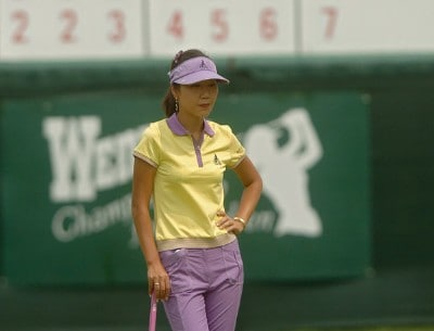 Soo-Yun Kang during the second round of the 2006 Wendy's Championship for Children held at Tartan Fields Golf Club in Dublin, Ohio on August 25, 2006.Photo by Steve Grayson/WireImage.com