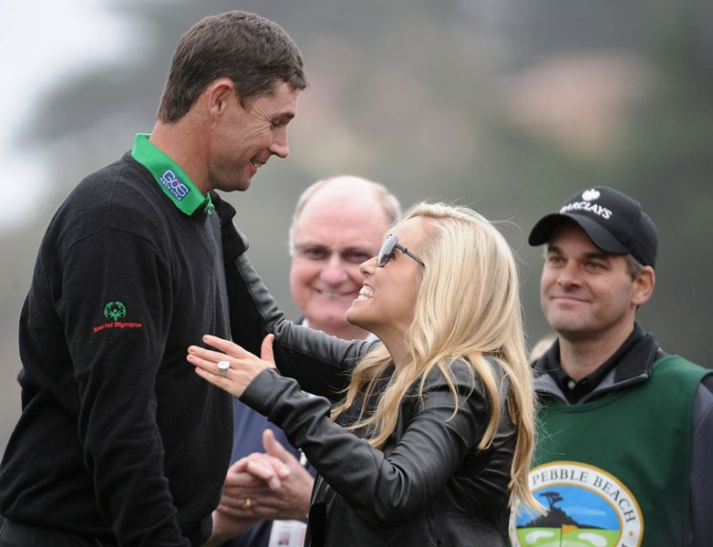 Padraig Harrington and Amy Mickelson