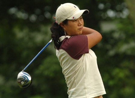 Meena Lee in action during the third round of the 2005 Wendy's Championship for Children at the Tartan Fields Golf Club in Dublin, Ohio on Saturday August 27, 2005.Photo by Steve Grayson/WireImage.com