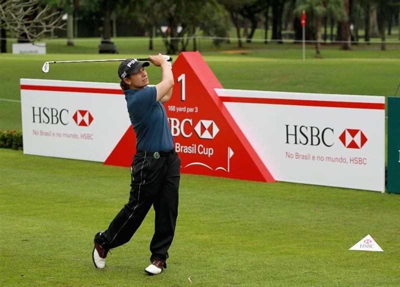 RIO DE JANEIRO, BRAZIL - MAY 28:  Heather Bowie Young of the USA watches her tee shot on the first hole during the first round of the HSBC LPGA Brazil Cup at the Itanhanga Golf Club on May 28, 2011 in Rio de Janeiro, Brazil.  (Photo by Scott Halleran/Getty Images)