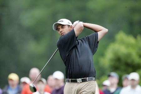 Arjun  Atwal at the 4th tee box during the third round of the Zurich Classic of New Orleans, April 30,2005, held at the TPC of Louisiana GC,  Avondale, La.Photo by Stan Badz/PGA TOUR/WireImage.com