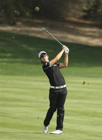 DUBAI, UNITED ARAB EMIRATES - FEBRUARY 11:  Seung-yul Noh of South Korea competes during the second round for the 2011 Omega Dubai desert Classic held on the Majilis Course at the Emirates Golf Club on February 11, 2011 in Dubai, United Arab Emirates.  (Photo by Ian Walton/Getty Images)