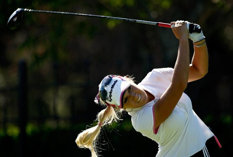DANVILLE, CA - SEPTEMBER 24:  Natalie Gulbis tees off on the 9th hole during the first round of the CVS/pharmacy LPGA Challenge at Blackhawk Country Club on September 24, 2009 in Danville, California.  (Photo by Jonathan Ferrey/Getty Images)