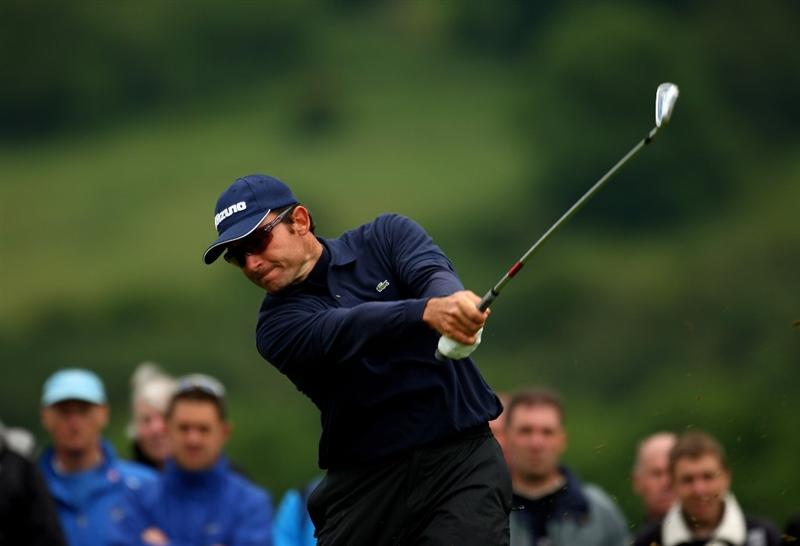 NEWPORT, WALES - JUNE 07:  Ignacio Garrido of Spain in action during the final round of the Celtic Manor Wales Open on the 2010 Course at The Celtic Manor Resort on June 7, 2009 in Newport, Wales.  (Photo by Richard Heathcote/Getty Images)