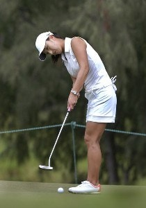 Grace Park putt on the ninth green during  the second round  at the 2006 SBS Open at Turtle Bay February 17 at Kahuku, Hawaii.Photo by Al Messerschmidt/WireImage.com