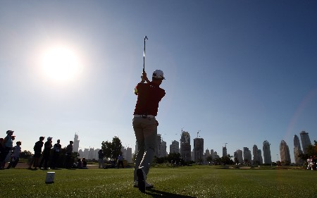 DUBAI, UNITED ARAB EMIRATES - JANUARY 29:  Henrik Stenson of Sweden hits his tee shot at the 7th hole during the Dubai Desert Classic Challenge Match, held on the Par 3 Course at the Emirates Golf Club, on January 29, 2007 in Dubai, United Arab Emirates.  (Photo by David Cannon/Getty Images)