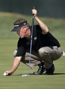 Michael Allen lines up a putt on the 18th green during the first round of the 2005 Michelin Championship Thursday, Oct. 13, 2005, at the TPC at Summerlin in Las Vegas, Nevada.Photo by Grant Halverson/WireImage.com