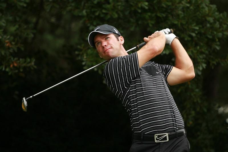 ATLANTA - SEPTEMBER 26:  Paul Casey of England hits his tee shot on the second hole during the final round of THE TOUR Championship presented by Coca-Cola at East Lake Golf Club on September 26, 2010 in Atlanta, Georgia.  (Photo by Scott Halleran/Getty Images)