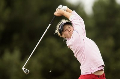 Finland's Minea Blomqvist during a practice day at the 2006 Weetabix Women's British Open at the Royal Lytham and St. Annes Golf Club. August 1, 2006.Photo by Pete Fontaine/WireImage.com