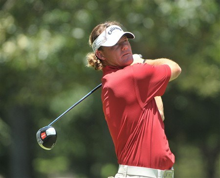 MEMPHIS, TN - JUNE 07:  Alex Cejka  of Germany tees off the 5th hole during the third round of the Stanford St. Jude Championship at the TPC Southwind on June 7, 2008 in Memphis, Tennessee.  (Photo by Marc Feldman/Getty Images)